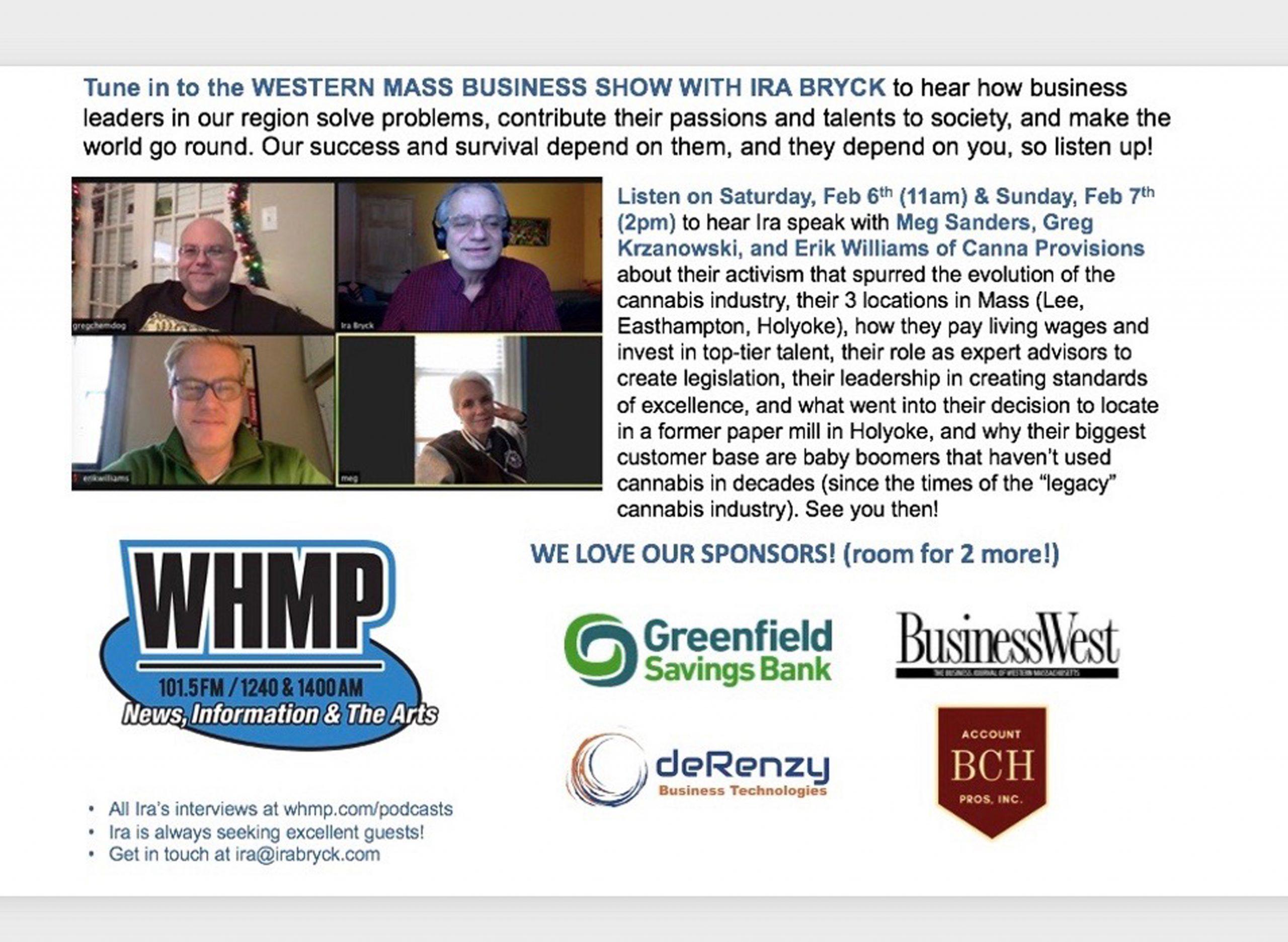 canna provisions chemdog greg krzanowski the western mass business show with ira bryck