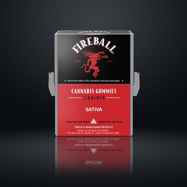 Fireball cannabis gummies cinnamon sativa