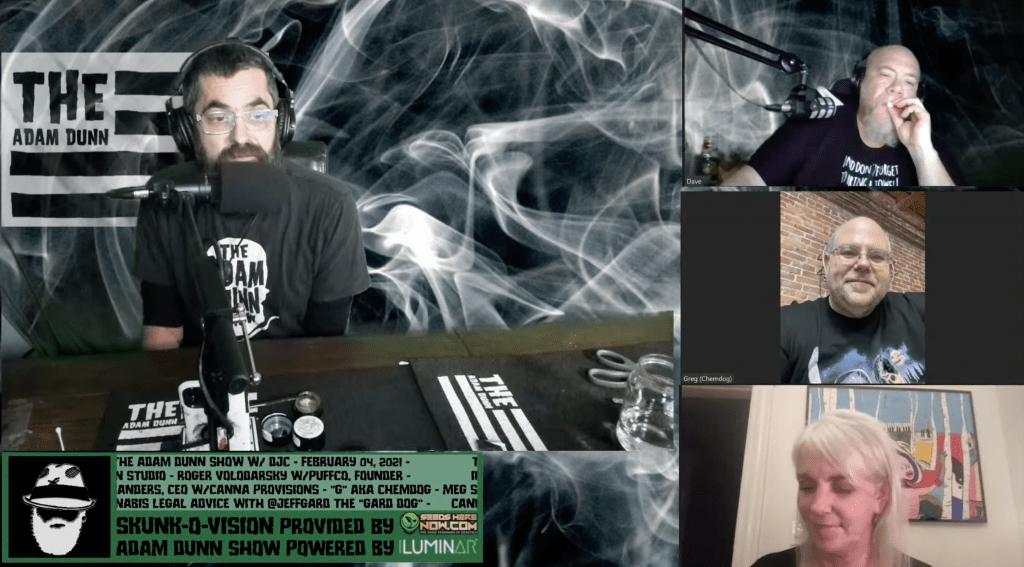 The Adam Dunn Show cannabis marijuana canna provisions chemdog