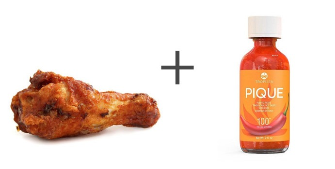 pique puerto rico hot sauce cannabis dosed buffalo wings chicken wings canna provisions