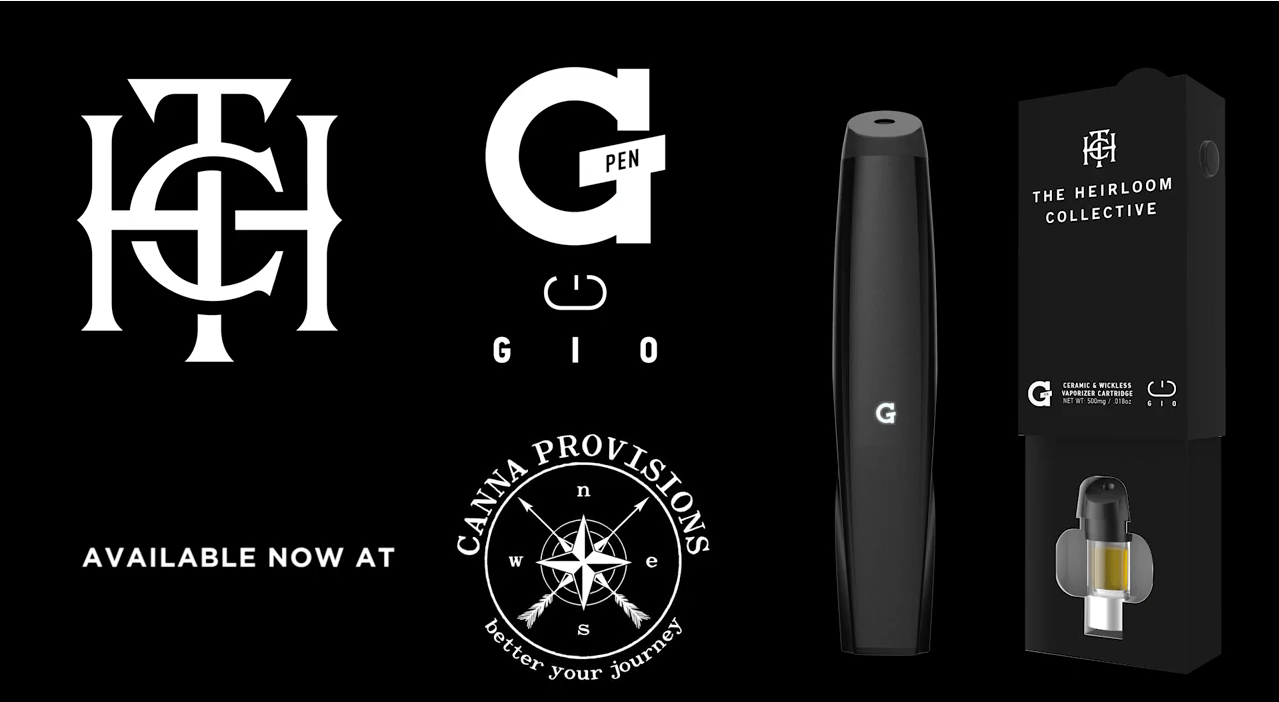 canna provisions g pen the heirloom collective gio cartridge